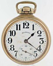 Antique Size 16 Illinois 17J Wind Pocket Watch Grade 305 Runs Railroad Style