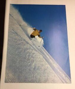Vintage Original Ski Poster Mountain Big Deep Pow Pow Extreme Slopes  1960s