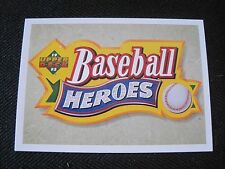 JP) TED WILLIAMS 1991 Upper Deck Heroes Complete 10 Card Set With HEADER #28-36