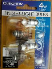 4 x Clear Night Light Bulbs- (4W) in each / 'Electrix' /