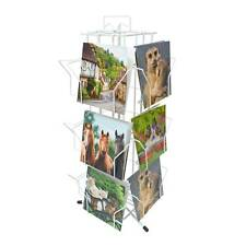 """White 12 Pocket Greeting Card Counter Retail Display Stand 7""""x 7"""" Cards (K100W)"""