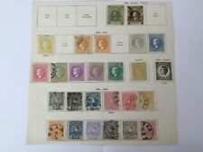 old stamps  SERBIA  hinged on page