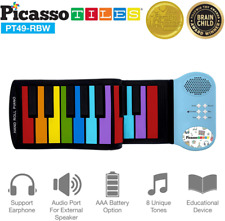 PicassoTiles Pt49 Kid's 49-Key Flexible Roll-Up Educational Electronic Digital M