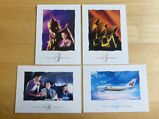 THAI AIRWAYS POSTCARD SET OF 4 WITH THAI LOGO CIRCA 2001. RARE AND COLLECTABLE