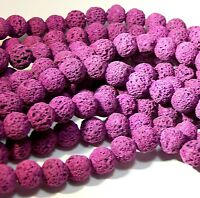 8mm Lava Bead Diffuser Grade A Scent Aromatherapy Violet Essential Oil Jewelry