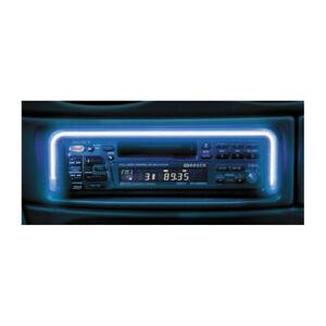 DIN LED Rahmen Radioblende Einbaurahmen Autoradio Licht 12V blau blende