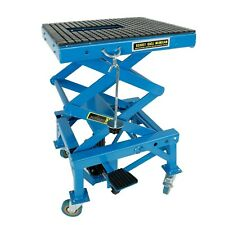 Hydraulic Motorcycle Scissor Jack Lift With The Foot Peg 300lbs Heavy Duty