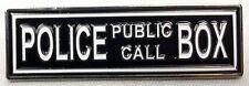 The TARDIS Police Public Call Box Doctor Who TV Series Logo Enamel Pin