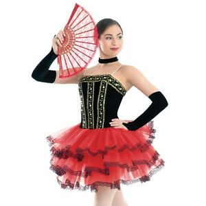 "Revolution Dancewear Ballet Character Costume Tutu ""Spanish Rose"" - CHILD LARGE"