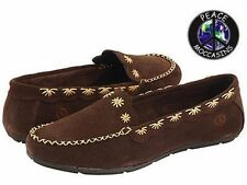 """Women's Peace Mocs """"Kate"""" Chocolate Suede Loafer Moccasins 6M New PM447150"""