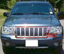 Fits 99-04 Jeep Grand Cherokee Vertical Main Upper Billet Grille Insert