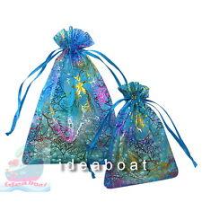 12/25/50/100pcs of12x9cm 18x12cm Coralline Organza Pouch Wedding Party Favor Bag