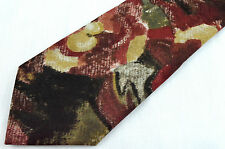 Neck Tie BUCKINGHAM  Paisley Fall Colors Brown Rust Gold Yellow Men NWOT 061