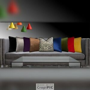 Colorful Plain Dyed Cushion Cover Quality Cotton Home Sofa Décor All Size