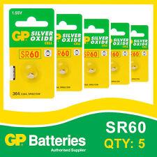 GP oxyde d'argent Bouton Batterie 364 (SR60) Carte de 5 [Watch & Calculatrice]