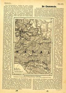 Burenkrieg Südafrika Schlacht bei Colenso Lord Roberts Titelblatt u.Karte v.1899