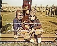 Vintage/Antique 1910 Photo Youth Football Players Old Leather Helmets & Uniforms