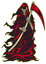 Autocollant Fenêtre Intérieur Voiture Reaper La Mort Crâne Biker goth Van Trike hotrod Punk