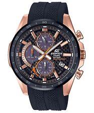 Casio EQS900PB-1AV  Edifice Men's Solar Black Resin Strap Chronograph  47.6 mm