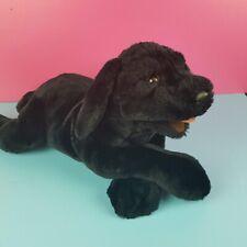 "Folkmanis Folktails Hand Puppet Black Lab Dog Puppy Plush 19"" Furry Folk"