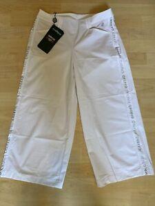 NWT Chervo Ladies Sarah Golf Pants 64010 100 White Sz 6 ITA 42 NEW