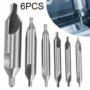 6Pcs Center Drill Countersink Pilot Bits Lathe Set Lifetime Warranty Parts Kit