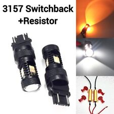 Front Signal DRL Switchback LED White Amber T25 3157 CK 3057 4157 K1 For Ford