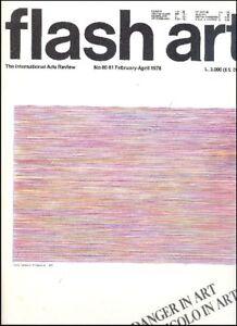 Flash Art. Danger in art. Pericolo in arte. No 80-81 February/April 1978