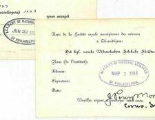 USA Cards{2}1915-31 Philadelphia ACADEMY NATURAL SCIENCES {samwells-covers}KK193