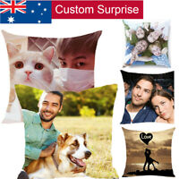 Personalised Photo Pillowcase Cushion Pillow Case Cover Custom Present Up to 9