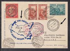 "Airmail in Milan in 1951 ""TOUR OF SICILY INTERNATIONAL PLANE"""