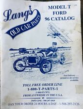 Lang's Old Car Parts - Model T Ford - 1996 Catalog 70 Pages!