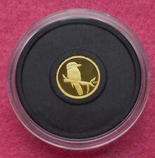 2009 AUSTRALIA  P20 KOOKABURRA GOLD 1/20TH FIVE DOLLARS $5 PROOF COIN