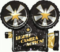 """Hollywood Movie Prom Night Party Decoration 32"""" Camera shaped Foil Balloon"""