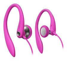 NEW PINK Earbud Ear Clip Headphones.Comfort Music.4' Cord.Jogging Earphones