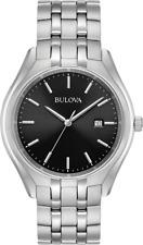 Bulova Classic Men's 96B265 Quartz Black Dial Silver-tone Bracelet 41mm Watch