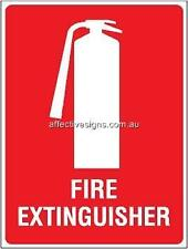Fire Extinguisher Sign Safety Signs Australian Made Quality Printed Sign