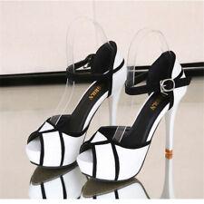 Womens High Heels Sandals Platform Stiletto Ankle Strap Pumps Shoes Fish Mouth