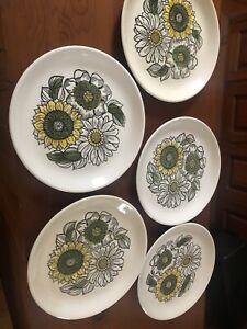 5 x Biltons Staffordshire Vintage 1970s dinner plates