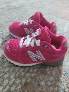 New Balance 990 Pink White Toddler Girls Size 6 Sneaker NEW