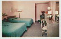 Unused Postcard The Saxony Motel Atlantic City New Jersey NJ View of Room