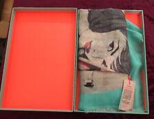 """Becksondergaard """" Warm Breeze"""" Silk Scarf Retro Coca Cola Design Gift Box"""