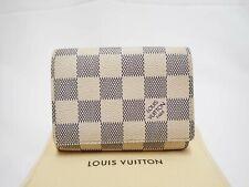 Authentic LOUIS VUITTON Damier Azur Card Case Holder Carte De Visite N61746