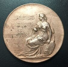 Art NOUVEAU / Argentina UNIVERSITY 1910 CENTENIAL / Bronze Medal / M80