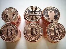 60-1 OZ COPPER COINS BITCOIN *COMPLETE SET OF 3 MODELS ANONYMOUS MINT* 1-20-100