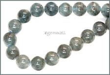 "18 Blue Green Kyanite Round Beads 11mm 7.75"" #70014"