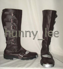classic version of Battlestar Galactica Cosplay Boots Brown Custom-Made