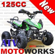 MOTOWORKS SPORTS 125CC ATV QUAD Bike Dirt Gokart 4 Wheeler Buggy green