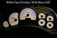 GM Silverado SS Speedo Cluster Gauge Repair w/ blue LEDs white face overlay