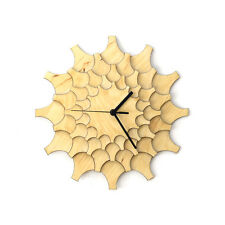 'Cogwheel' - modern stylish battery powered wooden wall clock by ardeola